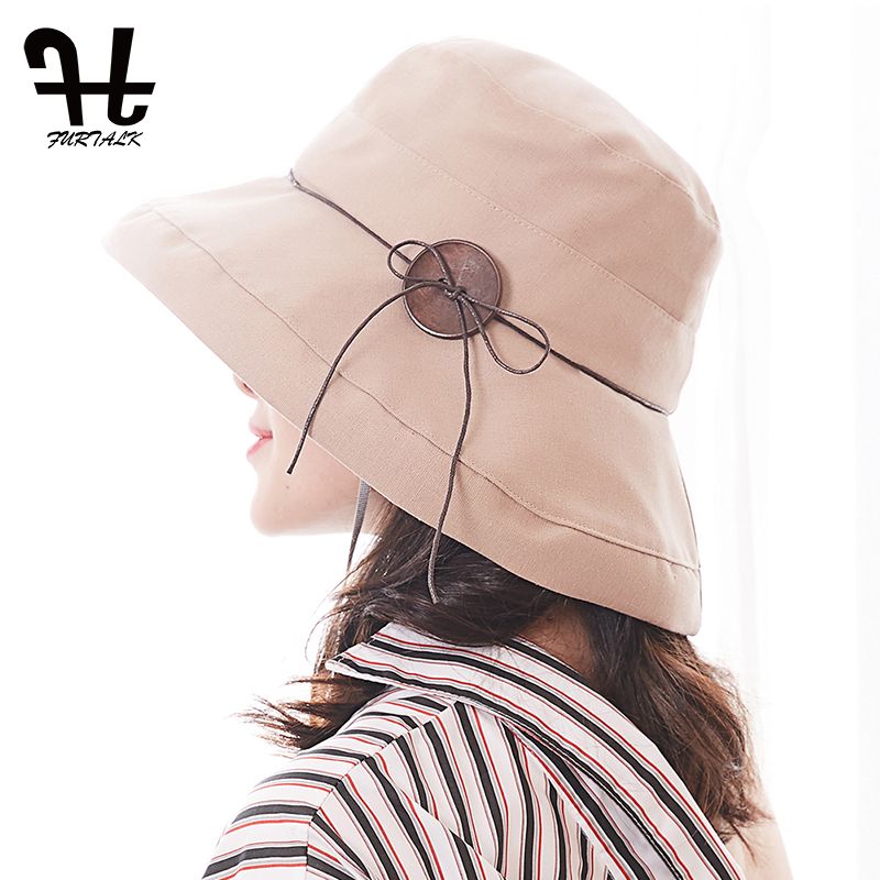 FURTALK Women&Men Bucket Hat for Fishing Beach Cotton Hat Summer Hats for Women Fashion Design Foldable Brimmed