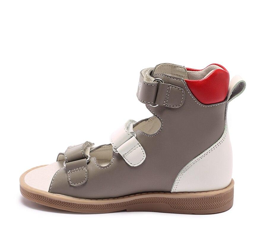 Princepard marque nouveau enfants chaussures d'été crochet boucle fermé orteil bambin filles sandales orthopédique sport en cuir véritable bébé filles - 5