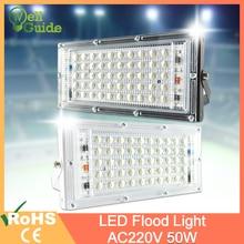 цены LED Flood Light 50W 10W Led Floodlight COB  chip LED street Lamp AC 220V 240V waterproof IP65 outdoor Lighting led spotlight