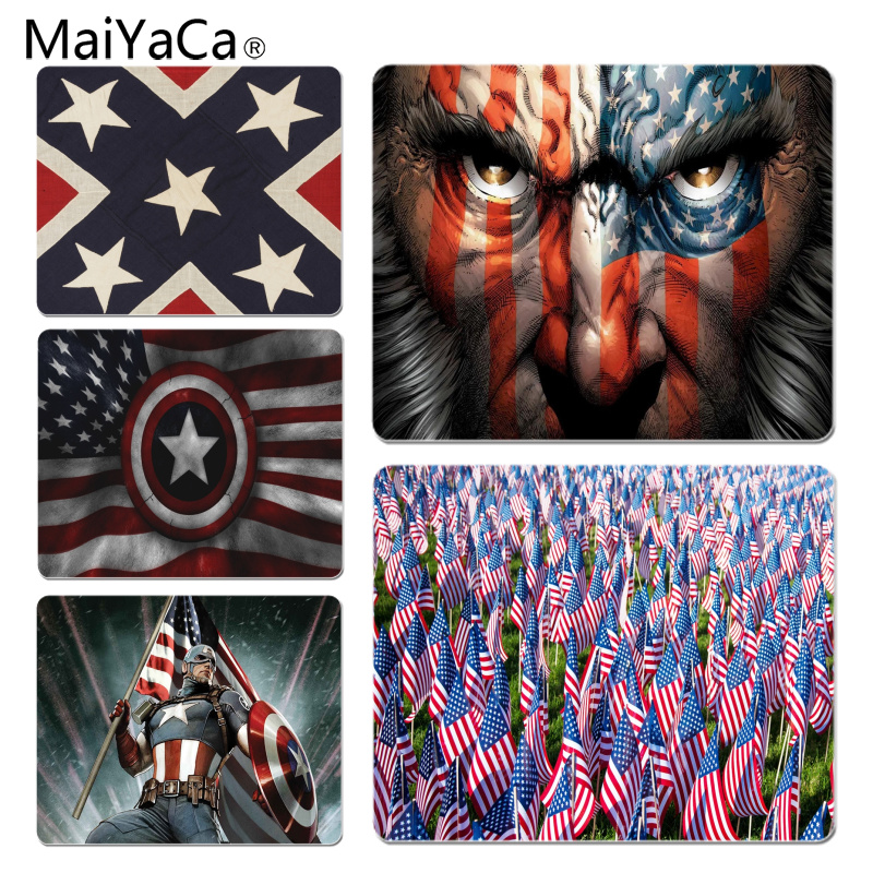 MaiYaCa My Favorite American Flag Customized laptop Gaming mouse pad Size for 18x22cm 25x29cm Rubber Mousemats