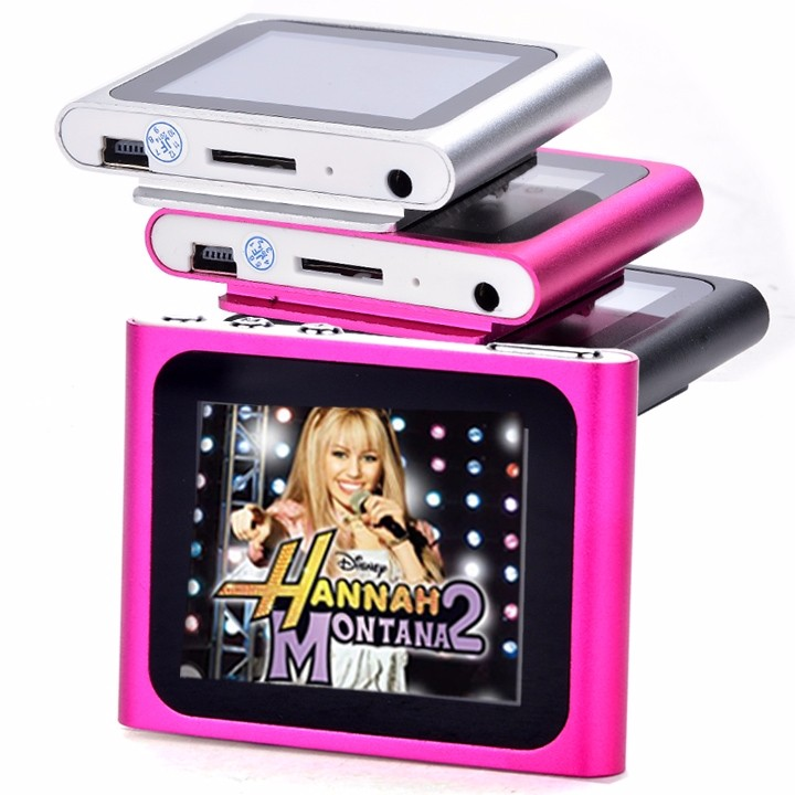 """6th Gen 1.8inch 1.8"""" LCD FM Radio Video Music Mp3 Mp4 Player Support 2G 4GB 8GB 16GB Card WMV format TFT 262K color screen 2"""