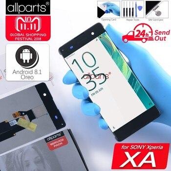 5.0'' Оригинальный тачскрин дисплей экран для SONY Xperia XA сенсорный дисплей Оригинал LCD с тачскрином в рамке замена запчасти F3111 F3112 F3116 серый белы...