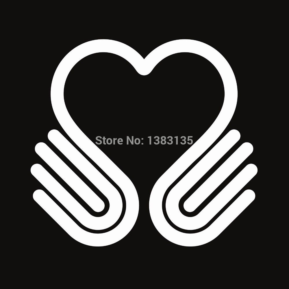 Car sticker design vector free - Hot Sale Hands Heart Symbol Vector Car Sticker For Truck Window Bumper Suv Door Kayak Vinyl