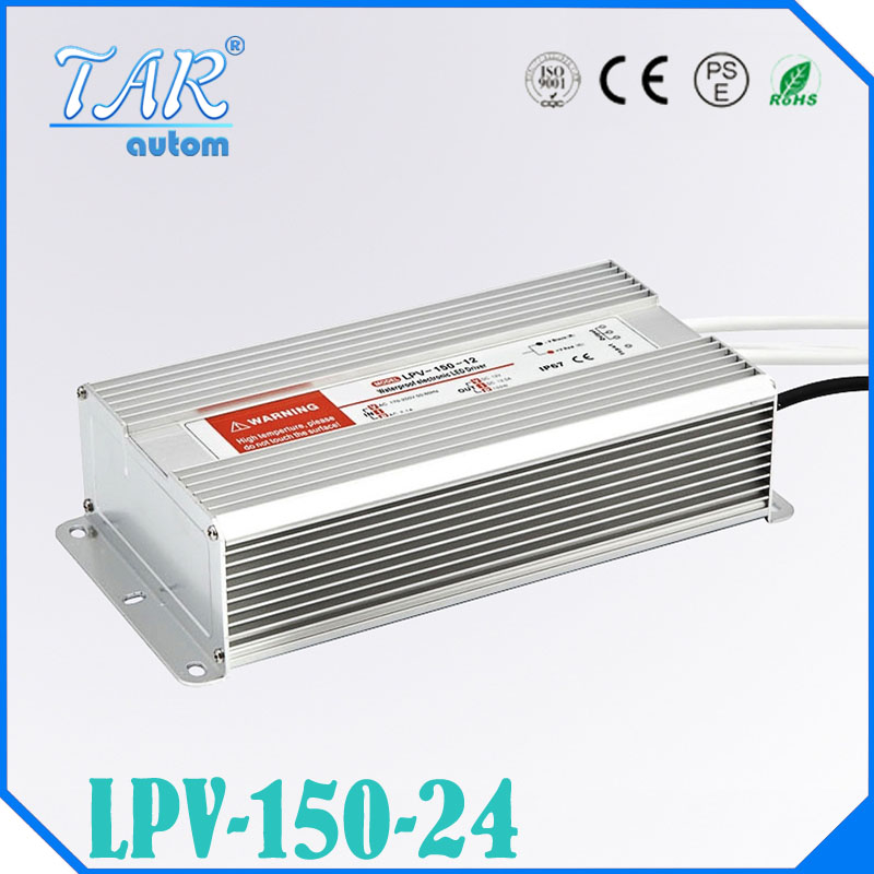 LED Driver Power Supply Lighting Transformer Waterproof IP67 Input AC170-250V DC 24V 150W Adapter for LED Strip LD504  free shipping 5pcs lot 150w hot selling ac90 250v to dc12v or dc24v transformer ip67 waterproof led driver power supply