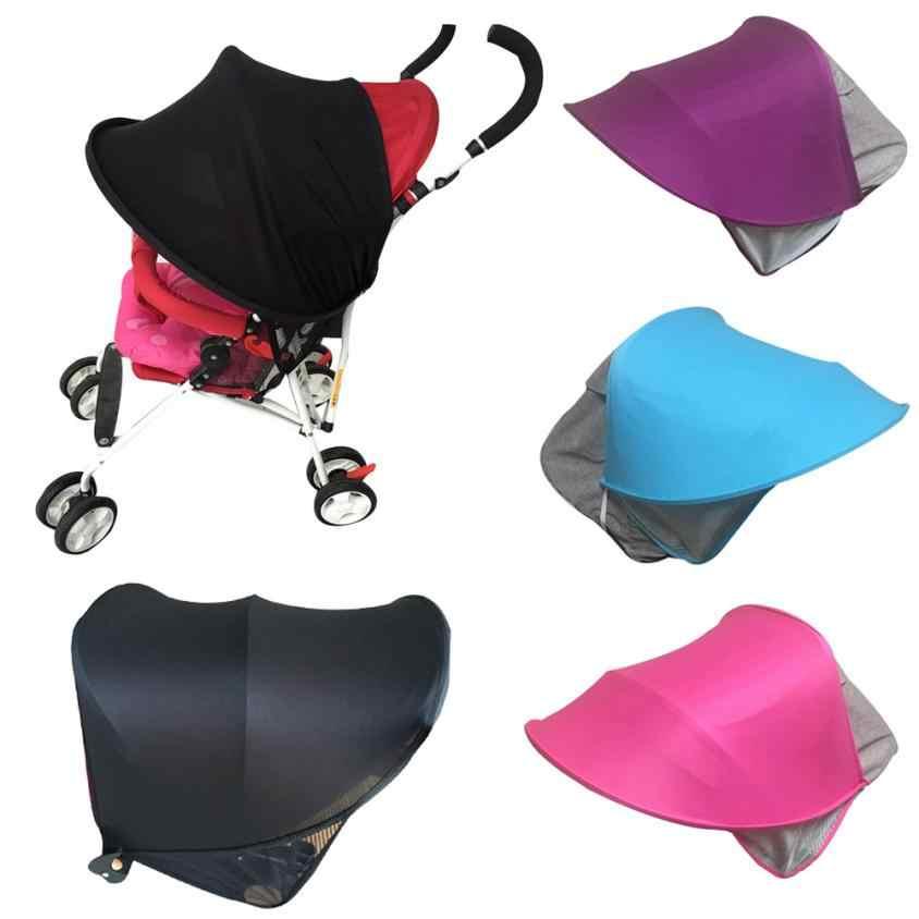 Детская коляска зонтик солнцезащитный козырек анти-УФ ткань чехол для коляски навес ветрозащитный ребенок для коляски детская прогулочная коляска аксессуары