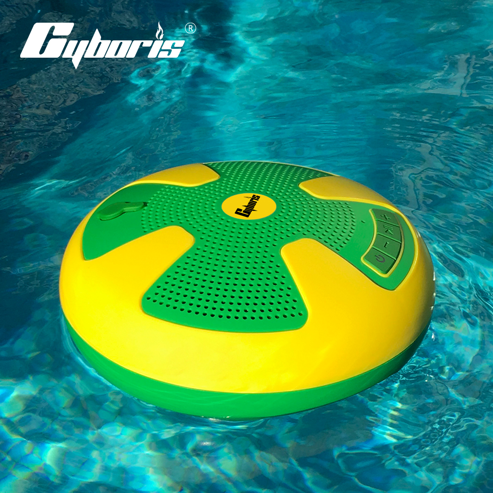 CYBORIS Swimming Speaker Pool Floating Bluetooth Speakers Wireless Waterproof stereo Splashproof Dustproof IPX7 Dual 5W Drives
