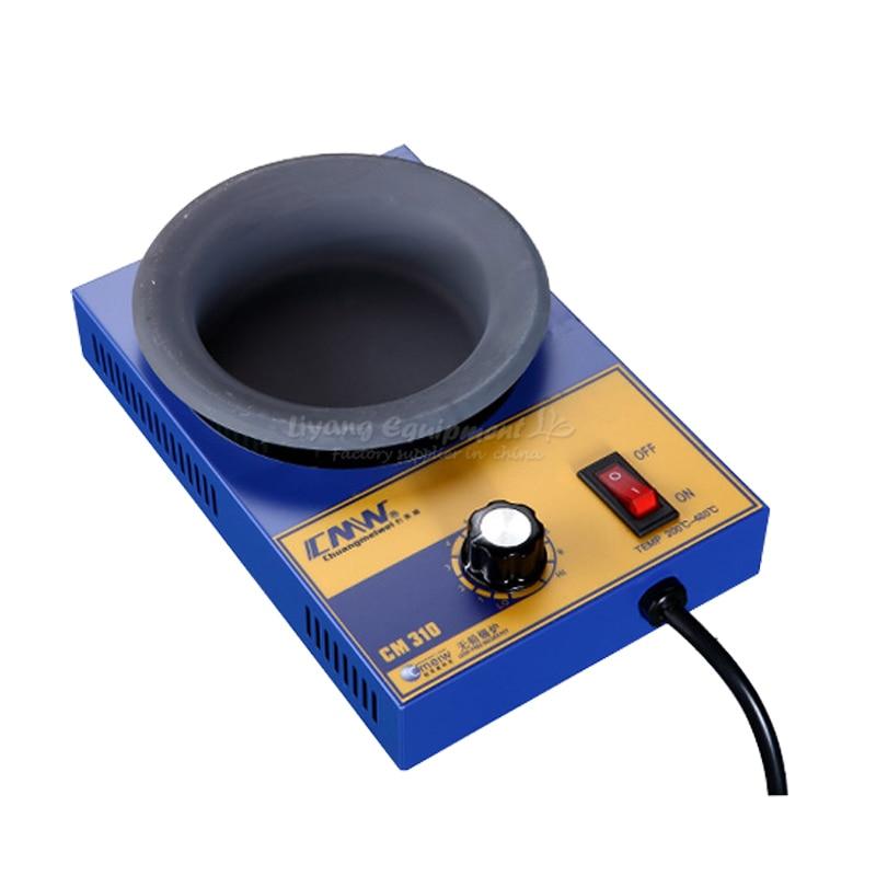 MINI Lead-free melting pot, soldering furnace, stepless adjustable temperature small tin stove CM-310 B00011 molten tin furnace welding melting furnace machine welder zb1510b dissolve tin dip solder stove for pcb soldering pot