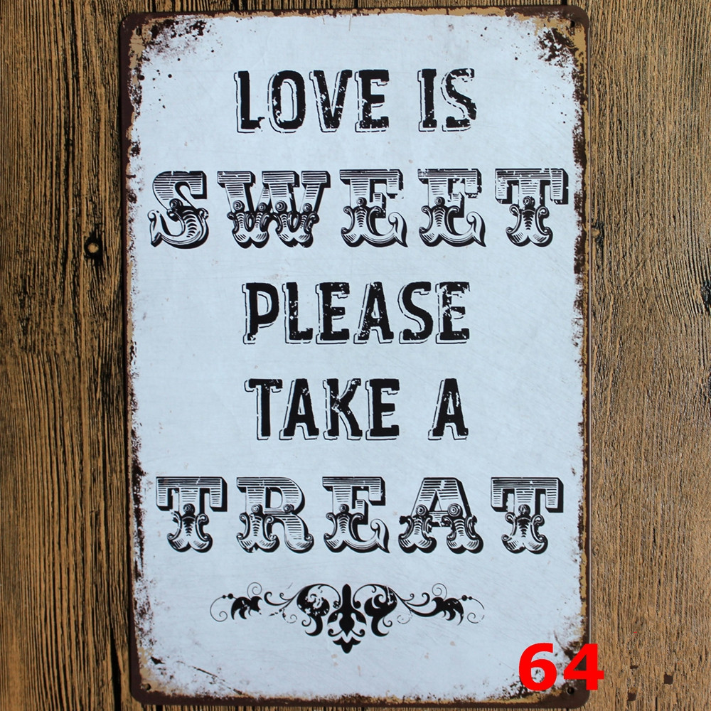 Home Wall Art Kitchen Rules Quote Metal Sign Wall Art Home Decor Tin