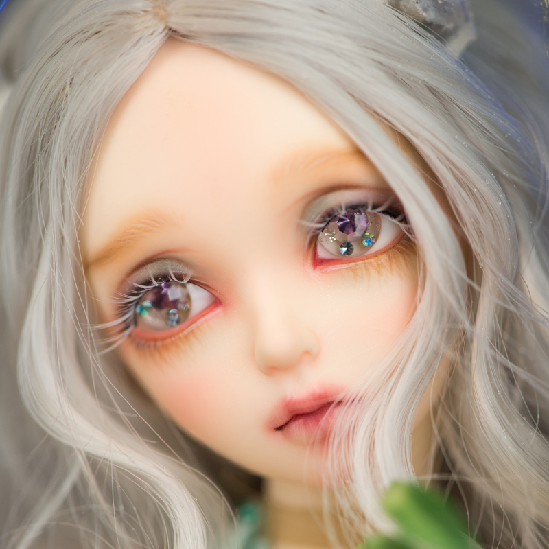 2018 Newest Arrival 1/4 Bjd Doll Fashion Eva Reborn Silicone Resin With Makeup For Baby Girl Birthday Christmas Gift Present