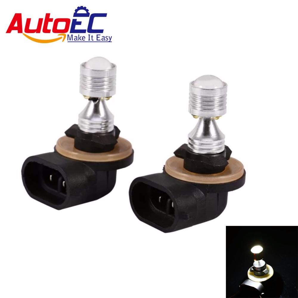 AutoEC 2x H27 led bulb car driving leds High Power Quality White 881 30W LED Bulb Fog Daytime Driving Light External Lamp #LJ73 2pcs xenon hid white 25w high power 5 xcree xp e chips 881 h27 pgj13 led fog light driving drl bulbs
