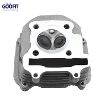 GOOFIT 150cc Gy6 Cylinder Head with Valve Chinese Installed Scooter Moped Parts Group-65 goofit motorcycles big bore 50mm cylinder rebuild kit gy6 50cc 139qmb racing scooter parts 64mm valve group 11