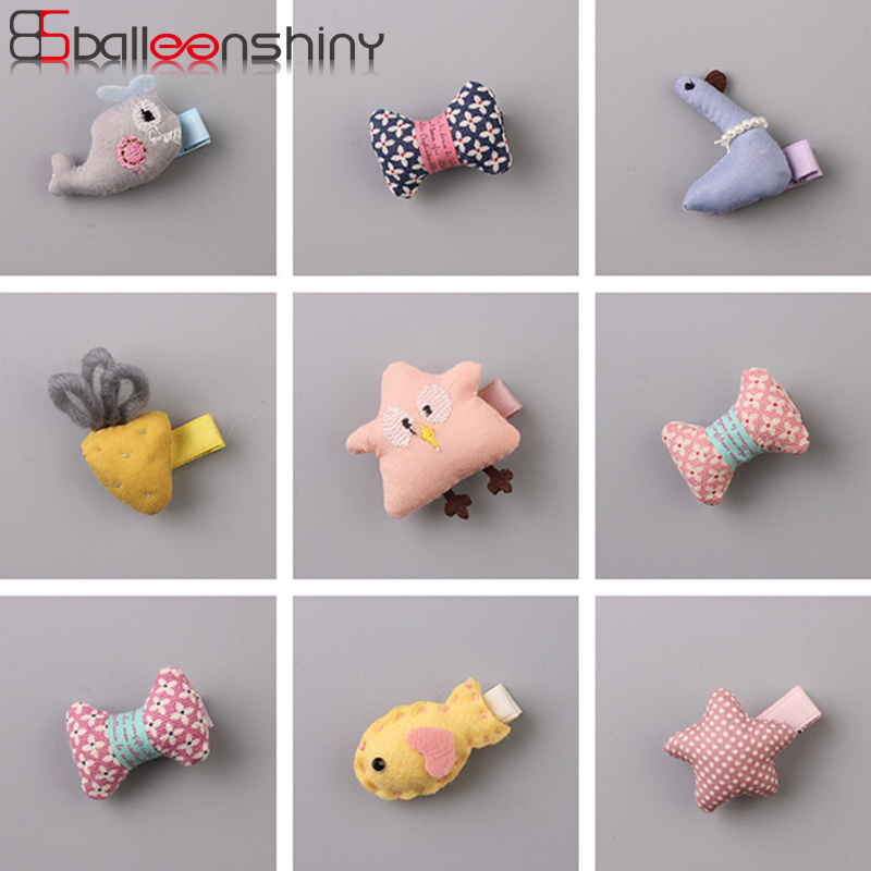 BalleenShiny 1PC New Design Hot Sale Baby Girls Kids Hair Clips Cute Cartoon Animals Hairpins Barrette Headband Accessory Gift 1pcs crystal bowknot hair clips for girls rhinestone decorattion hairpins styling tools barrette braiding accessories hair pins