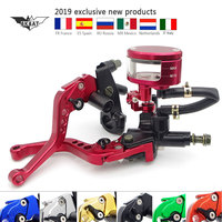 Motorcycle 22mm Brake Clutch Lever Master Cylinder Reservoir Set For bmw c600 sport honda hornet 900 yamaha r1 2016 honda cb500x