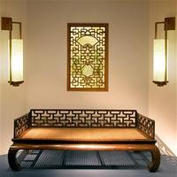 Chinese wall lamp black bronze living room modern creative bedroom bedside lamp hotel villa corridor aisle wall light ZA81470