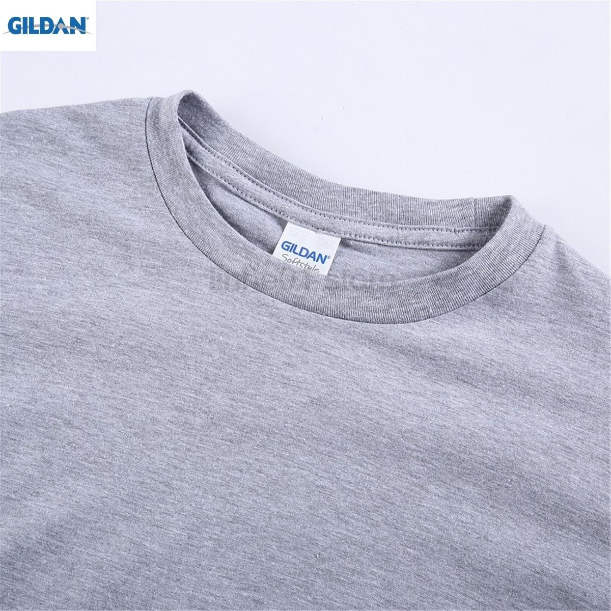 GILDAN BURN OUT Lettering Dress female T-shirt