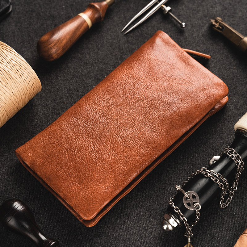 Genuine Leather Men Wallet Clutch Phone Bag Case Luxury Brand Mans Purse Coins Card Holder Long Male Wallets Carteira Masculina luxury brand wallet male mens leather card holder business billfold zipper purse wallets men coin clutch carteira masculina zer
