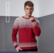Male horse design sweater printing turtleneck sweater patterns hot sale personality men's casual wear sweaters