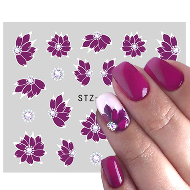 Полная красота наклейки для дизайна ногтей цветок мультфильм Переводные картинки причудливый узор дизайн водяной знак слайдер украшения TRSTZ766-770