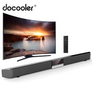 Image 1 - SR100 Plus Bluetooth Soundbar Hause TV Lautsprecher Drahtlose Subwoofer Fernbedienung Stereo Surround Sound Lautsprecher für Heimkino
