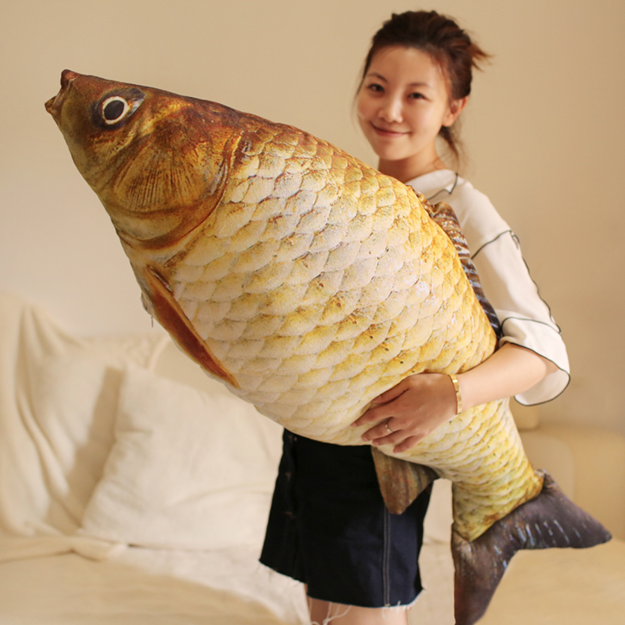Hot 120cm Giant Big Fish Stuffed Pillow For Cats Simulation Plush Toys Funny Pillow Stuffed Cushion Animal Toy Cojines 50T0085 stuffed animal prone dog plush toy about 85 cm soft doll throw pillow t7790