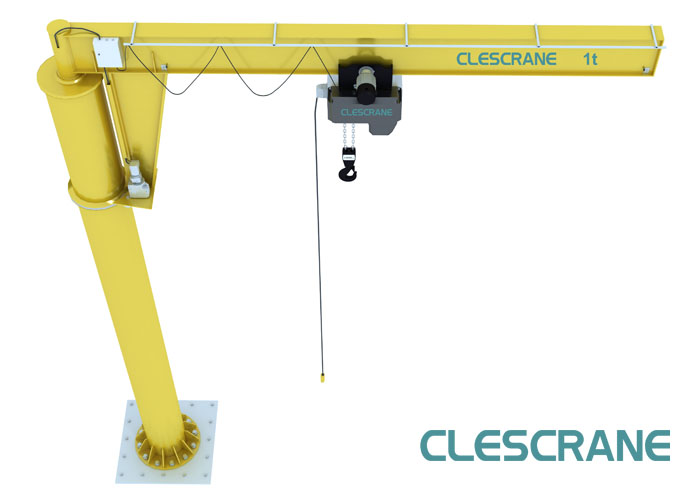 Small Jib Crane : Floor mounted hoist gurus