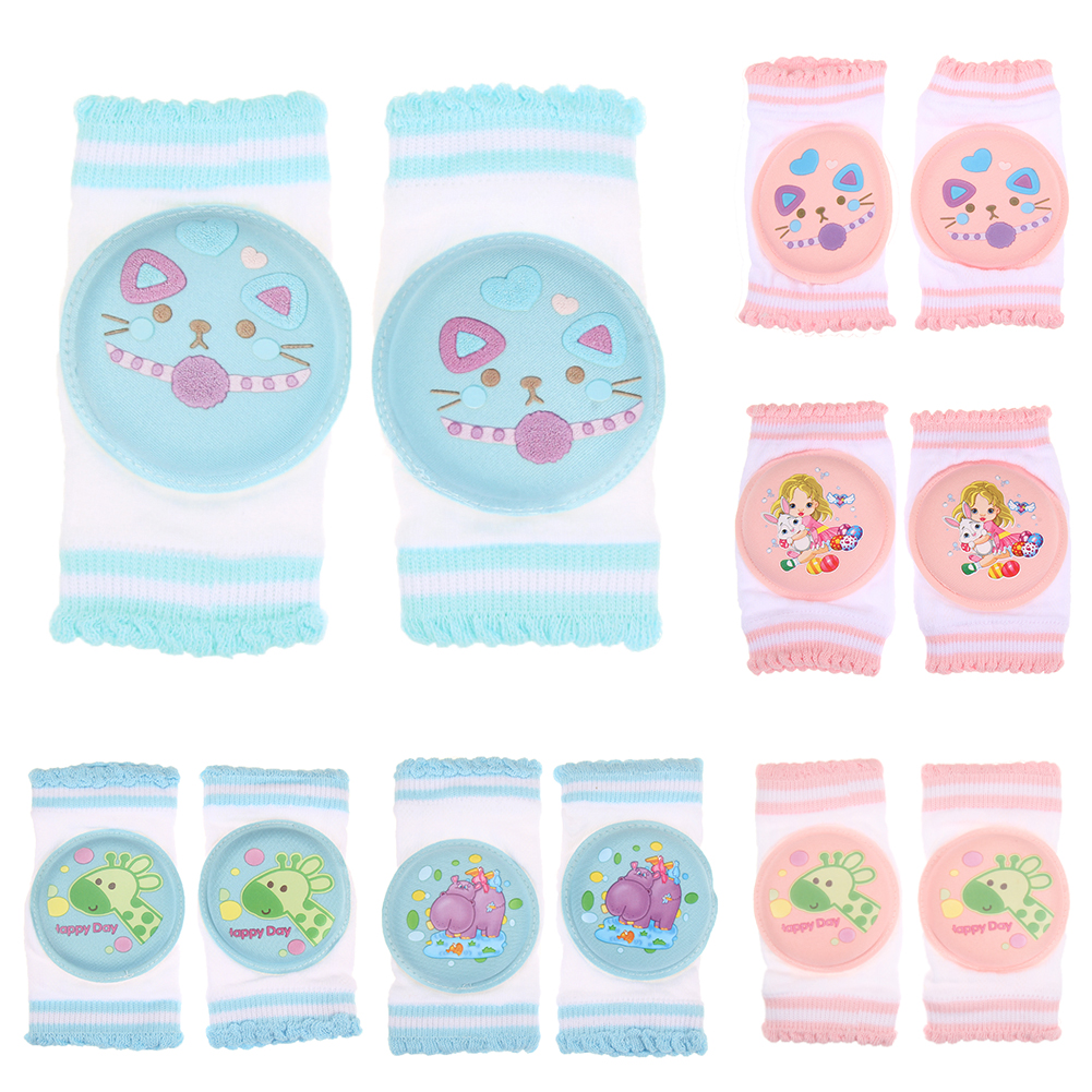 1 Pair Baby Crawling Elbow Cushion Knee cap Baby Safety Protective Kneelet Infants Toddlers Baby Knee Pads Leg Warmers For Kids