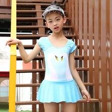 Children swimsuits swan Style Kids swimwear Beach Wear Bathing Suit one-piece kids swimwear swimming suit for childern sw715