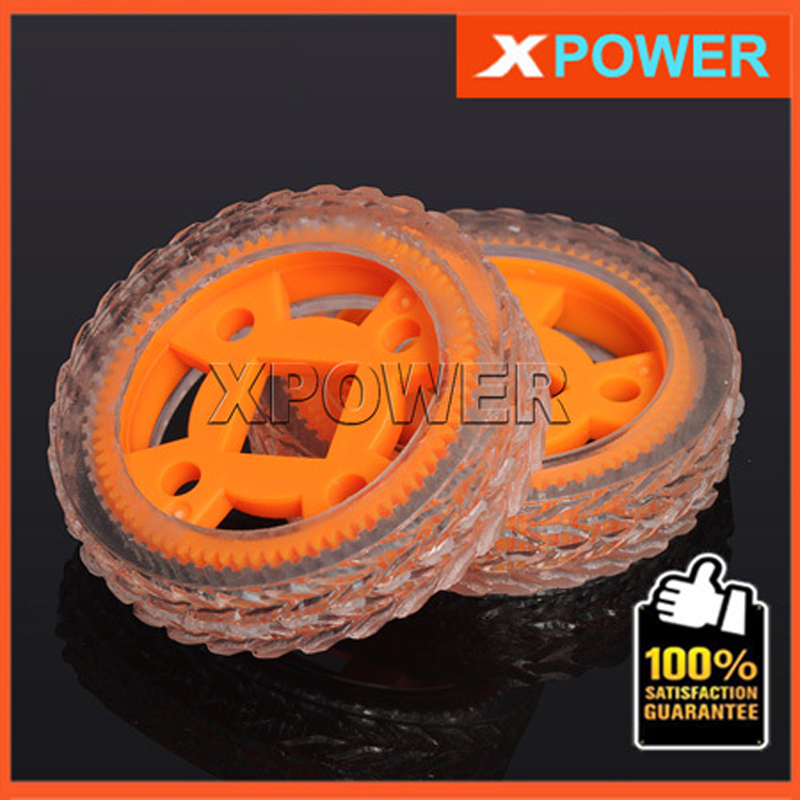 Free shipping For RC Car 4pcs/lot Diameter 47mm/70mm 64T  Wheel set 64T Transparent Rubber Tires Tyre & Wheel Rim Toy Wheel Tyre 1pc j391 80mm diameter rubber wheel 1 16 simulation separable model car wheel remote car plastic hub free shipping russia