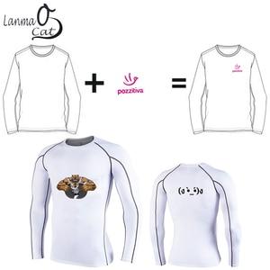 Image 5 - Lanmaocat Sportkleding Voor Mannen Fitness Jersey Shirt Custom Logo Print Mannen Bodybuilding Compressie Kleding T shirt Gratis Verzending