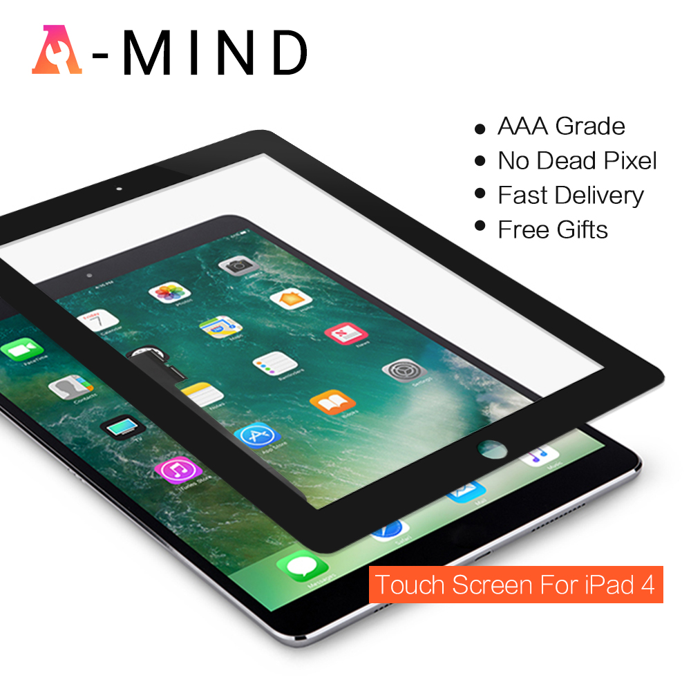 Touch Screen Digitizer Glass Lens Replacement For Apple iPad 4 ...