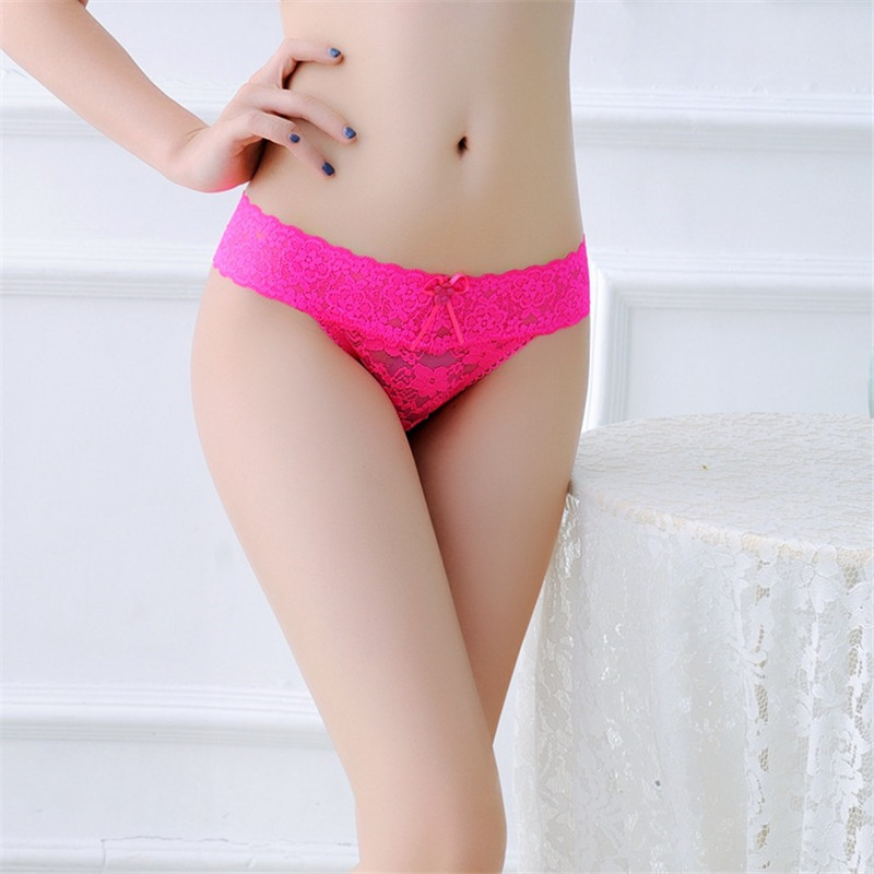 Ixuejie 6pcs/lot M-XXL Plus Size Full Lace Women G String Sexy Panties Super Thin Ladies Underwear Thongs Fashion Briefs