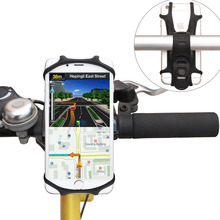 WANPOOL Bicycle Handlebar Silicon Phone Holder for 4 - 6 Inch Phones - iP hone X / 8 / 8 Plus / Sam sung Phones / HUA WEI P10(China)