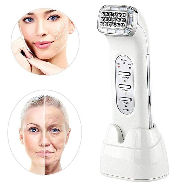 RF ความถี่วิทยุ Face Lifting กระชับผิวหน้าลดริ้วรอยเครื่อง Galvanic Spa Facial Rejuvenation อินฟราเรด WAVE