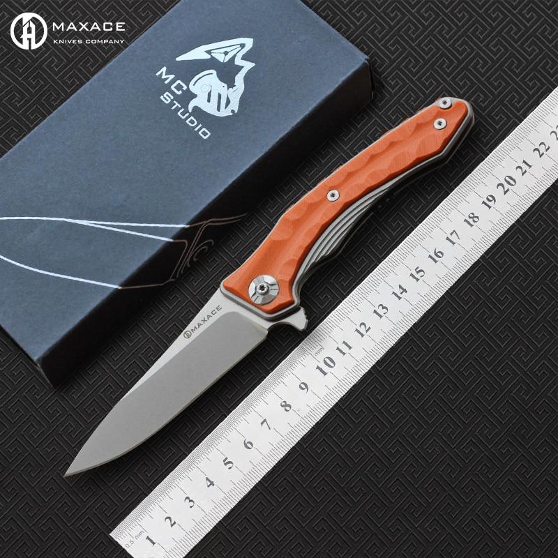MAXACE Midnight Cat ZEALOT folding knife 440C steel blade G10 Handle Outdoor camping hunting outdoor fruit