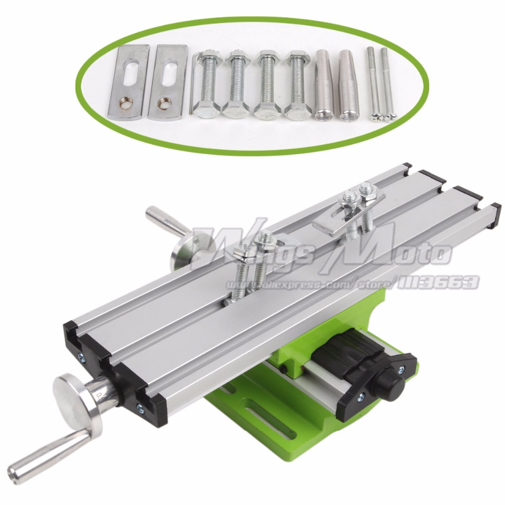 300mm Mini Bench Drill Multifunction Worktable Milling Working Table Milling Machine Compound Drilling Slide Table DIY Tool amyamy mini drill press bench small drill machine work bench eu plug 580w 220v 5169a