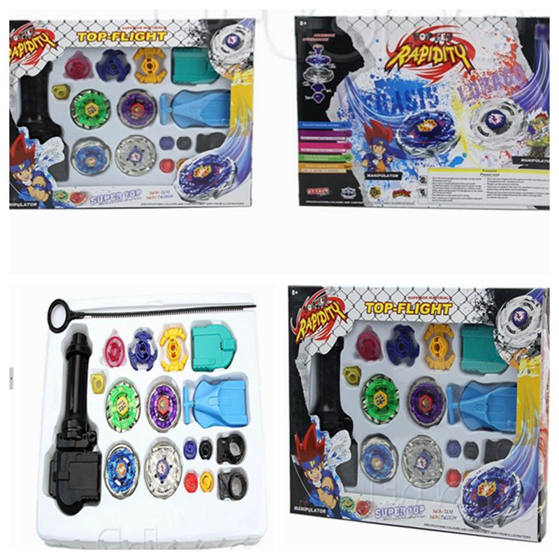 Vendite calde Trottole beyblade di fusione del metallo 4D Launcher Grip Set Lotta Master Rare beyblade giocattoli Per Bambini Regali