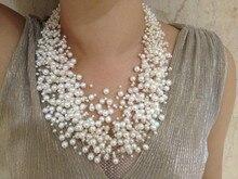30 capas de boda del collar de perlas multipuntos flotante agua dulce collar de perlas diseño moda collar de collar de mujer joyería cultura