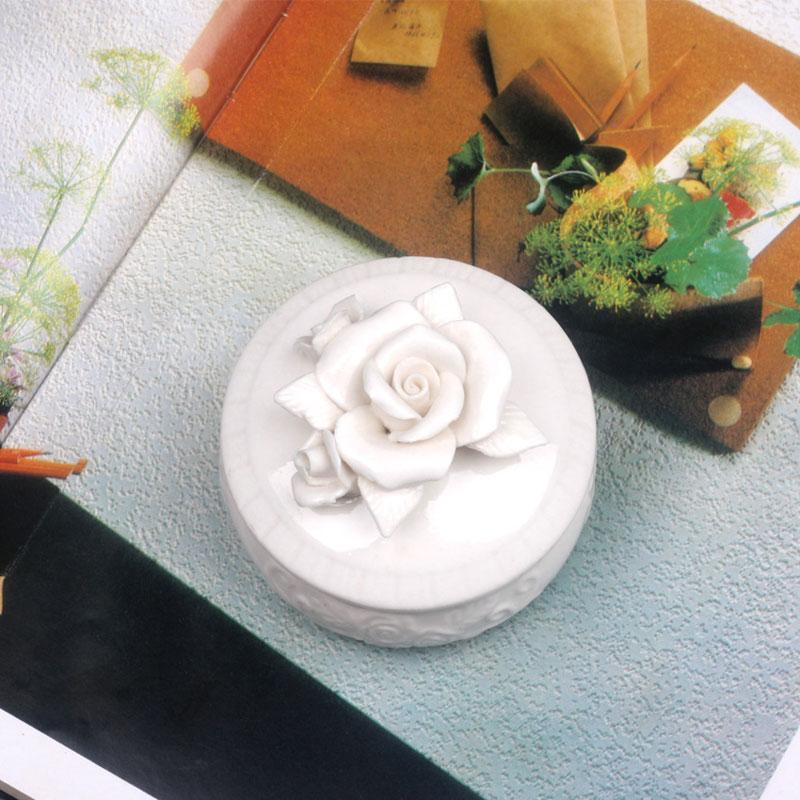 Tank-Jar Jewelry-Box Crystal-Storage Rose Ceramic Nordic Wedding-Ring With Lid Stud-Earrings