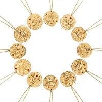 Vercret ожерелье со знаком зодиака 925 пробы серебро созвездие золотой кулон Цепочки и ожерелья для Для женщин украшения подарок Dropshiping