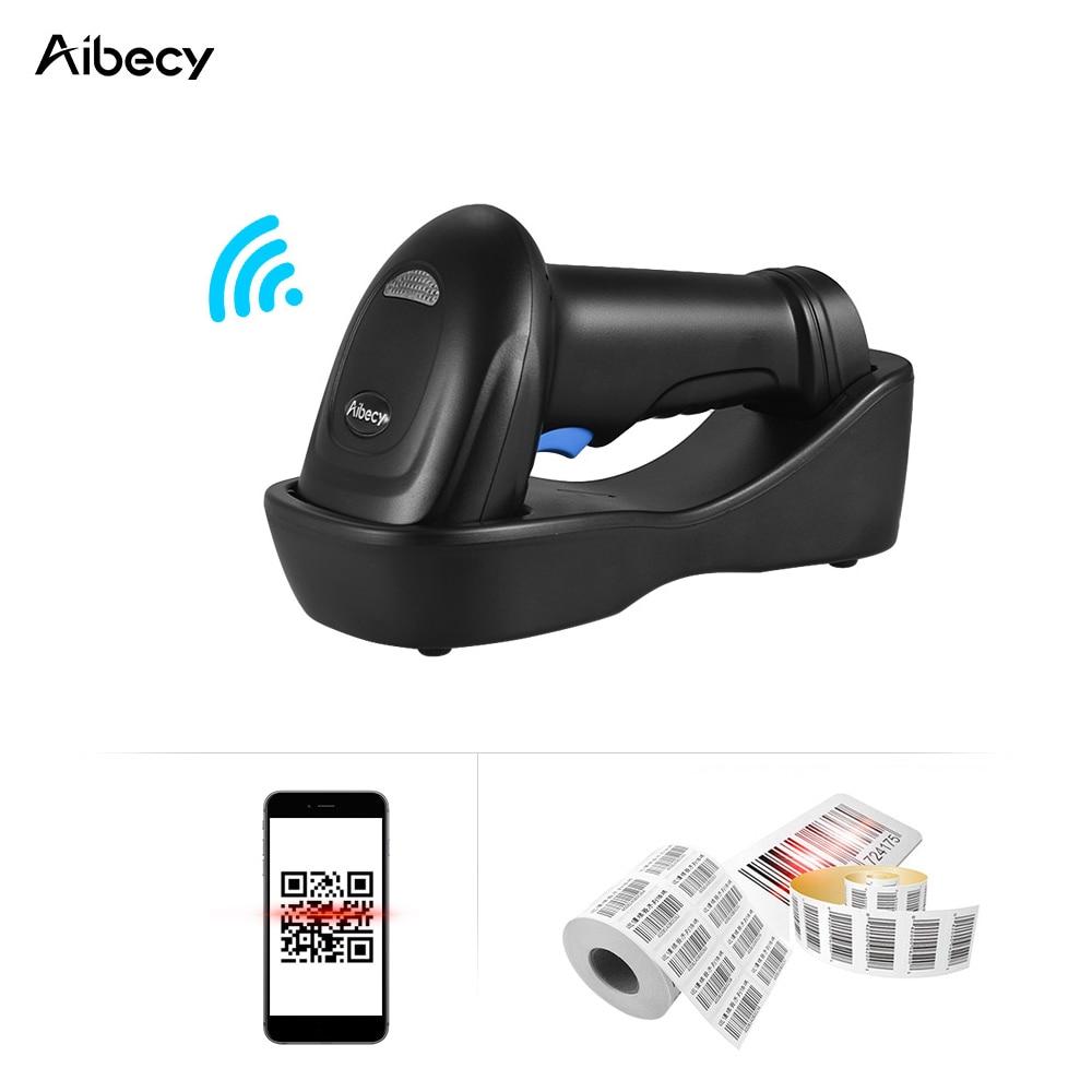 Aibecy Barcode Scanner Barcode Reader 433MHz Wireless 1D 2D Auto Image Barcode Scanner Handheld QR code PDF417 Bar Code Reader