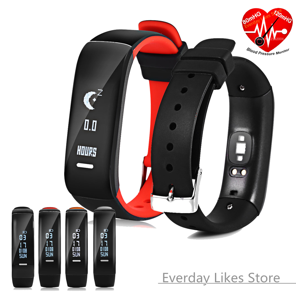 P1 Bluetooth 4.0 Smart Wristband Band Blood Pressure Monitor Wearable Heart Rate