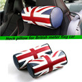 2 pc For The new F55 F56 head neck leather British flag car
