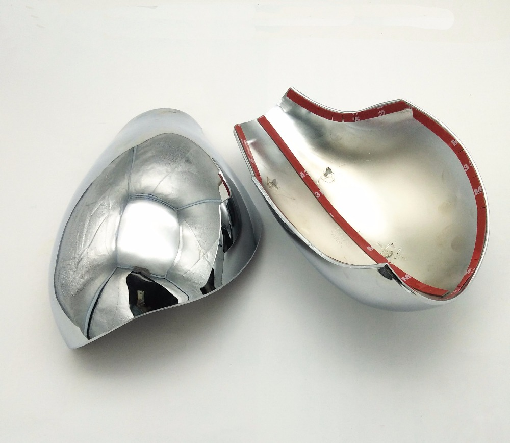 SKTOO Accessories FIT FOR <font><b>PEUGEOT</b></font> <font><b>206</b></font> SW CC DOOR SIDE WING <font><b>MIRROR</b></font> CHROME COVER REAR VIEW CAP Rearview <font><b>mirror</b></font> cover image