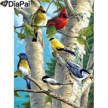 DIAPAI Diamond Painting 5D DIY 100% Full Square/Round Drill Animal Bird sceneryDiamond Embroidery Cross Stitch 3D Decor A24662