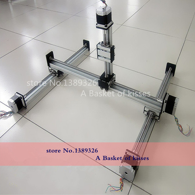 Linear guide slider module Longmen frame slide multi axis ball screw linear guide slider module L=300 300400100