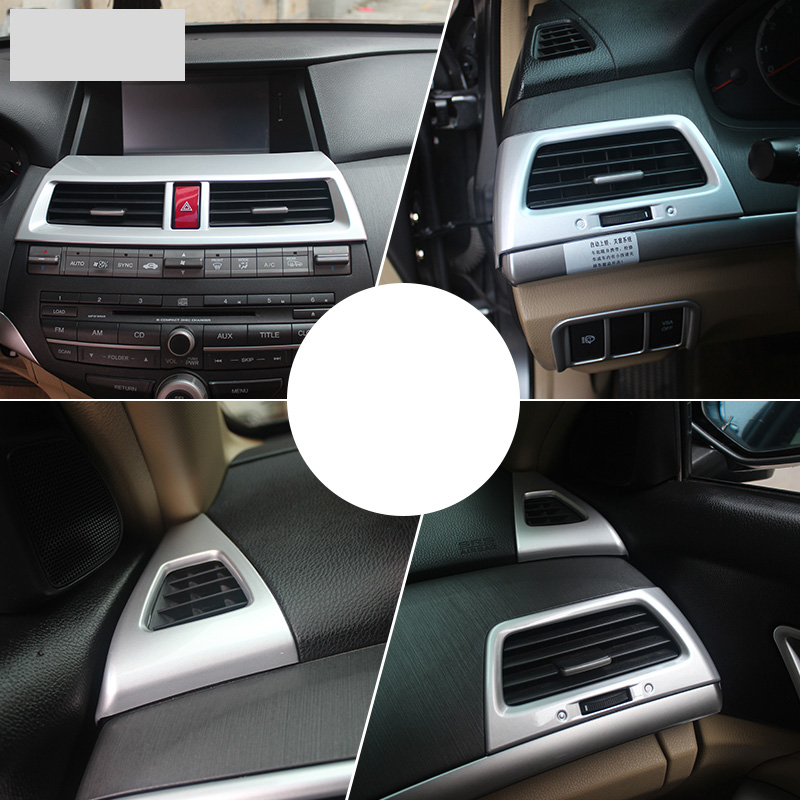 lsrtw2017 abs car dashboard air conditioner vent trims chrome for honda accord 2008 2009 2010 2011 2012 2013 8th accord in Interior Mouldings from Automobiles Motorcycles