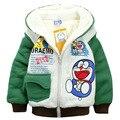 Nuevos niños de los hoodies niños otoño y el invierno de manga larga de la historieta sudadera lana gruesa niños ropa de abrigo chaqueta caliente ajuste 2Y ~ 8Y