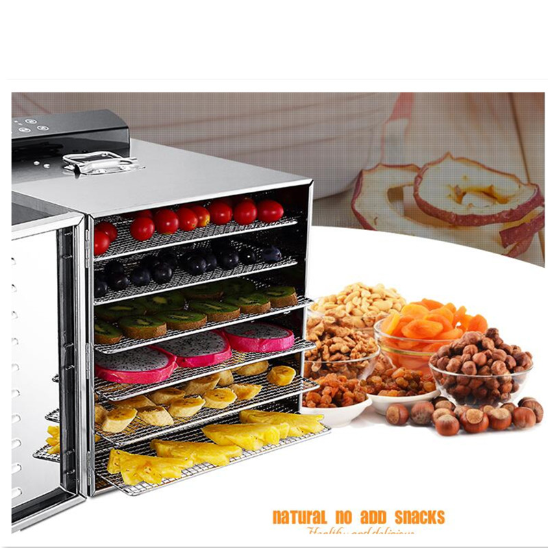 220V 6 Layers Electric Stainless Steel Fruit Meat Vegetable Herb Dryer Food Dehydrator Machine Energy Saving fast shipping food machine 6 layers chocolate fountains commercial chocolate waterfall machine with full stainless steel
