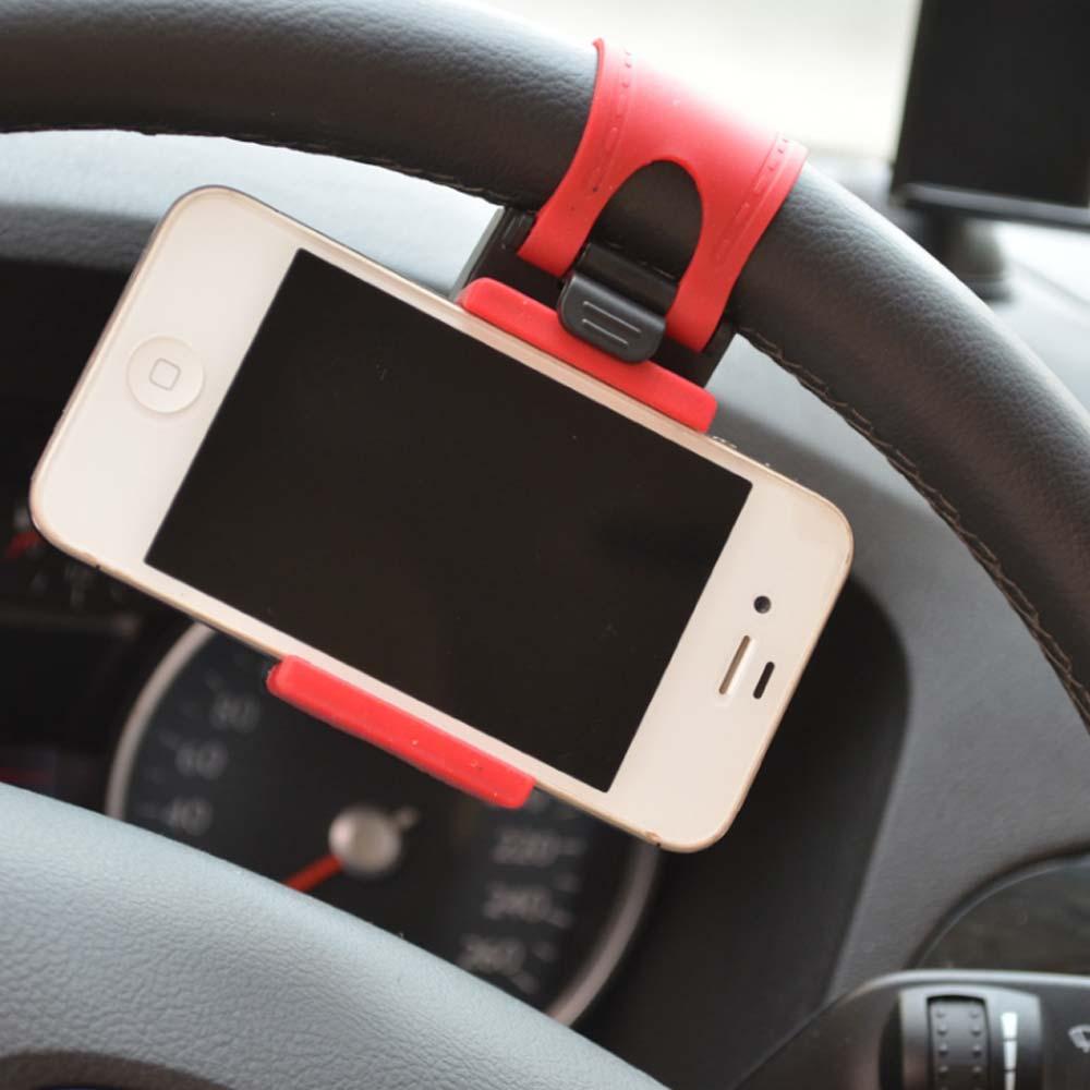 Useful Premium Universal Car Steering Wheel Bike Clip Mount Holder Car Phone Holder For cell phone/ iphone /Samsung /GPS Selfie