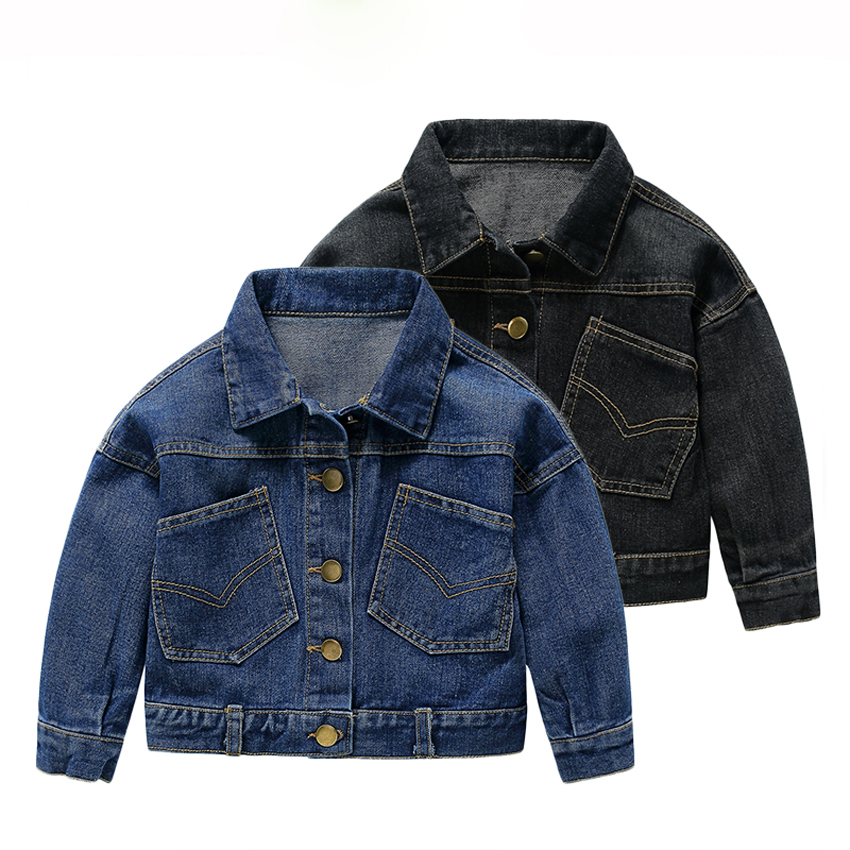 spring jacket boys 2017 new baby boy jackets solid turn down collar kids outerwear single breasted cowboy denim jackets for boy single breasted long sleeve turn down collar jacket